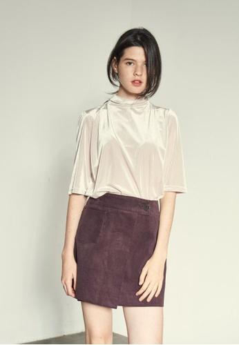 VEMVER brown Pocket Point Wrap Mini Skirt VE459AA0GKUTSG_1