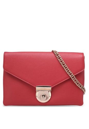 ZALORA red Push Lock Envelope Flap Clutch 5464AAC8399D46GS_1
