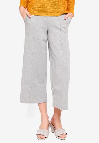 ICHI grey Kate Wide Pants 976FEAA74FD12EGS_1