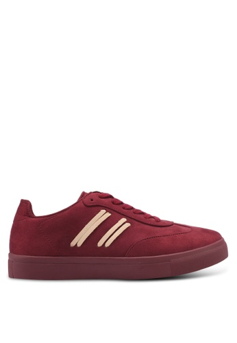 ZALORA red Side Stitching Detail Sneakers 8E669SH9ADFB18GS_1