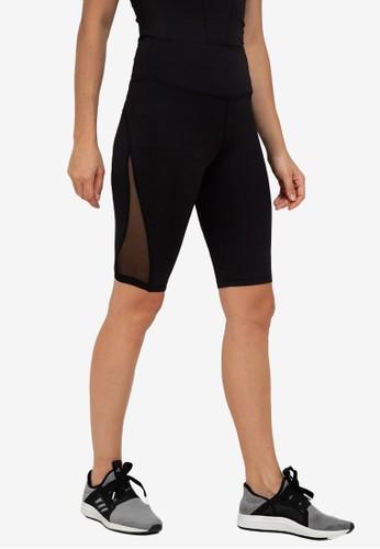 ZALORA ACTIVE black Mesh Side High Rise 10? Biker Shorts 9A0DCAAEA86263GS_1