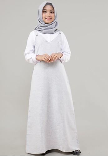 Cressida Kids white and grey Aufell Dress FBFE3KA36EBC8EGS_1