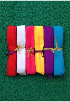 Caca's 6 Plain Ribbons