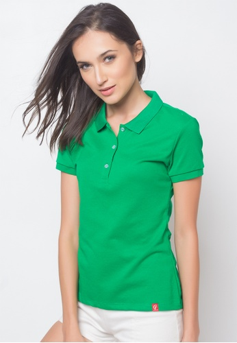 Guitar green Solid-toned Polo Shirt GU661AA85AJIPH_1