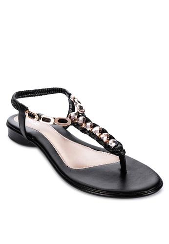 Suki black Flat Sandals 3B657SHA9F1228GS_1