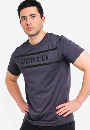 50000c75 Calvin Klein black Logo Panel Short Sleeve Tee - Calvin Klein Performance  87B9AAA2DAA592GS_1