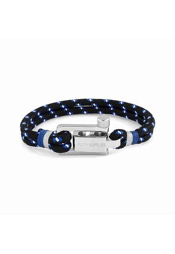 PLAIN SUPPLIES black U-Lock Black Rope Bracelet C950BACE6D7DD9GS_1
