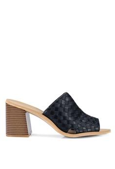 ad660ffdc7 Rubi black Gigi Mule Block Heels 4496BSHB0B6B8CGS 1