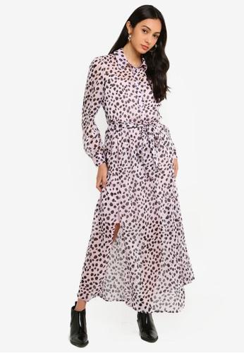 17119df12b67c4 Shop Glamorous Lilac Dalmatian Dress Online on ZALORA Philippines