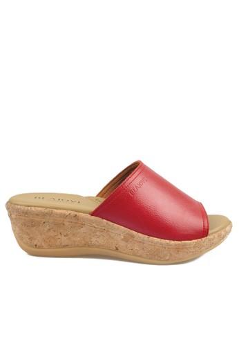 Beajove red Phoebe Wedges Sandals BE707SH49JDMID_1