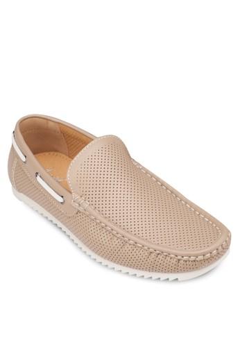 沖孔仿皮休閒樂福鞋, zalora鞋鞋, 船型鞋