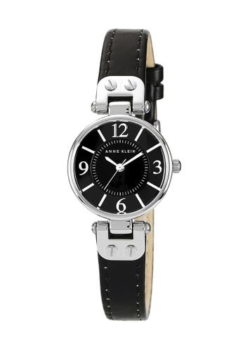 Anne Klein black and silver Anne Klein Ladies - Leather Strap Watch - 10-9443BKBK AN844AC0RGRXMY_1