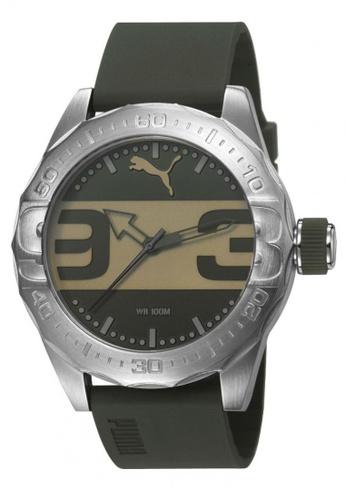 Puma black PU103751004 Street Silver Olive Men Watch PU549AC0RKL3MY_1