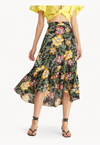 Pomelo black Tropical Mermaid Skirt - Black F9007AA62D1E9CGS_1