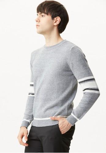 雅致商務。兔絨織色針織衫-11070-灰esprit outlet 台中色, 服飾, 毛線衣