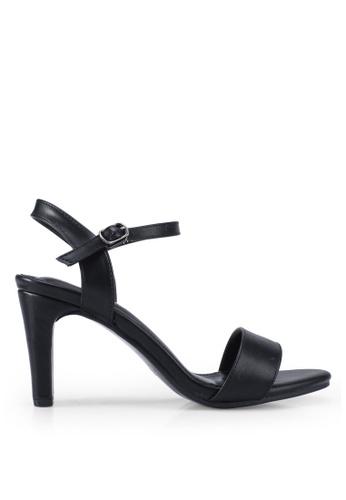Twenty Two black Fawna Open Toe Block Heels E11B9SHA721A9CGS_1