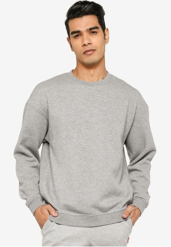 Jack & Jones grey Casual Plain Sweatshirt 9B1E9AA5ED437BGS_1