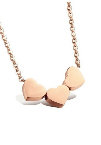 Vivere Rosse Three Hearts Necklace VI014AC39BIEMY_1