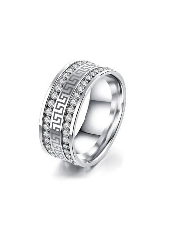 ADORA Stainless Steel Zircon Ring AD365AC2VTJ5HK_1