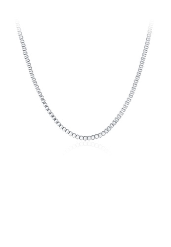 Glamorousky silver Fashion Simple 45cm Necklace A660EACB9C0C9FGS_1