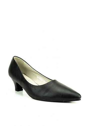 Cardam's Lifestyle black Cathe Pumps 6A976SHE9B89D3GS_1