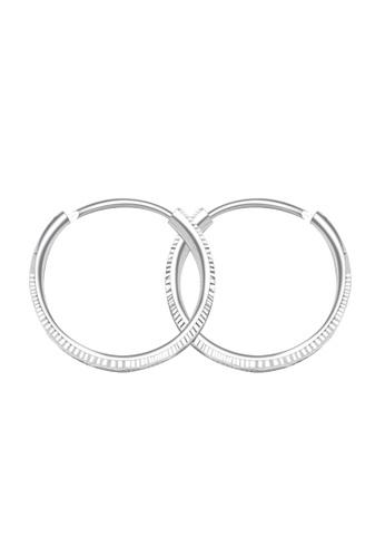SC Tom Silver silver Stripper Loop Earring SC872AC52HKHPH_1