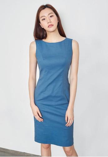 簡約無袖及膝鉛筆洋裝, 服飾, 洋esprit暢貨中心裝