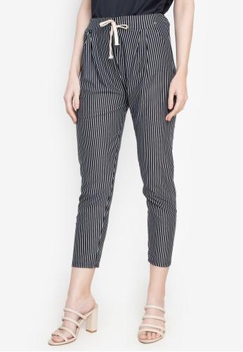 Chictees black Karlie Nautical Pants E8926AA601BB5AGS_1