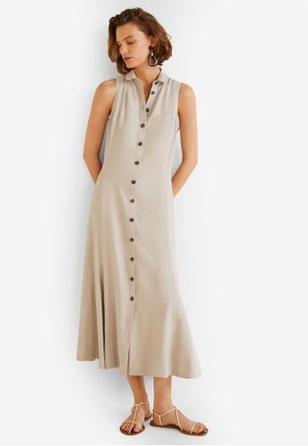 Mango grey Flared Shirt Dress DF3A2AADAD11B7GS_1