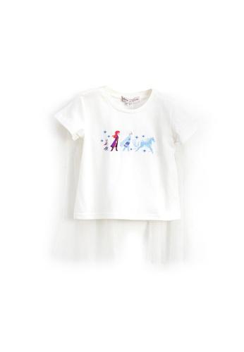 L'zzie white FROZEN II EMBROIDERY TOP - KIDS - WHITE D5FF5KACC7FEE2GS_1