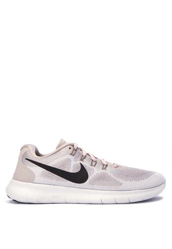 Nike beige Women's Nike Free RN 2017 Running Shoes NI126SH0STXQMY_1