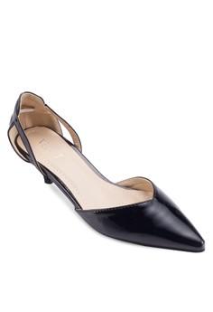 【ZALORA】 Lola 尖頭鏤空低跟鞋