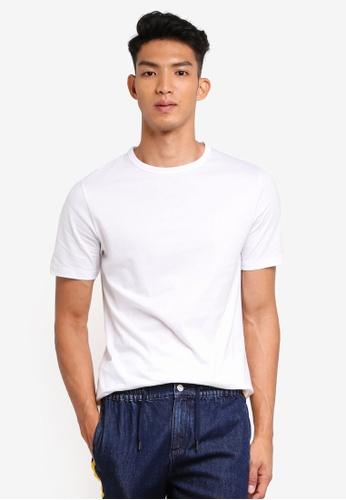 River Island 白色 White Double Curve Hem T-Shirt A0BB4AA9E39C9BGS_1