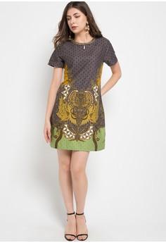 Dress Batik Print Wanita Modern Online Beli Di Zalora Indonesia