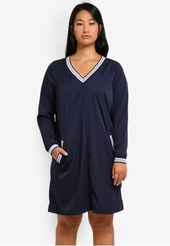 Junarose navy Plus Size Manja Above Knee Dress JU731AA0ST1MMY_1