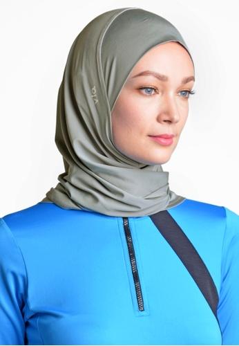 ViQ grey ViQ Two Way Sports Hijab D8F4EAAAB3DF41GS_1
