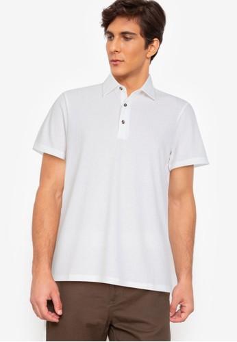 ZALORA BASICS white Textured Polo Shirt 893EAAAF2F3463GS_1