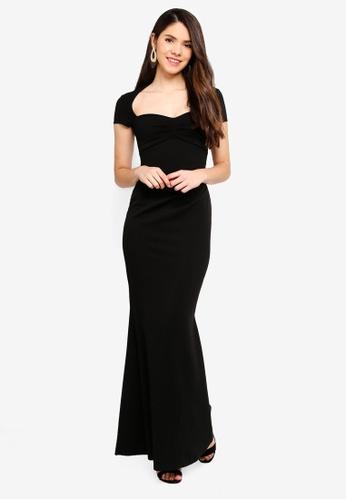 Goddiva black Sweetheart Neck Maxi Dress 5BABCAA6A4D3A1GS_1