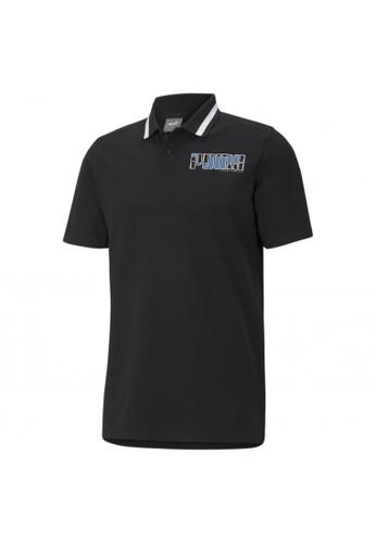 PUMA black PUMA Athletics Men's Polo Shirt A0265AA1F8C0E4GS_1
