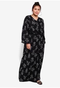 d9245ea3570f13 Lubna Wrap Dress with Belt S$ 49.90. Sizes XXL XXXL XXXXL XXXXXL
