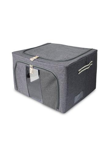 HOUZE grey HOUZE - Foldable Linen Storage Box (Grey) 159F3HLF172BEBGS_1