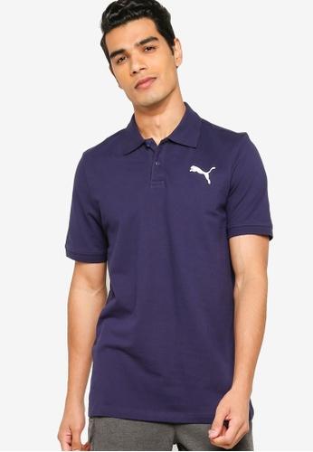 PUMA navy Essentials Pique Men's Polo Shirt 25C3CAADD6D48EGS_1