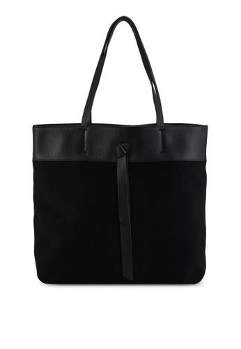 Coccinelle black Joy Canvas Tote Bag 3852FAC0915A07GS_1