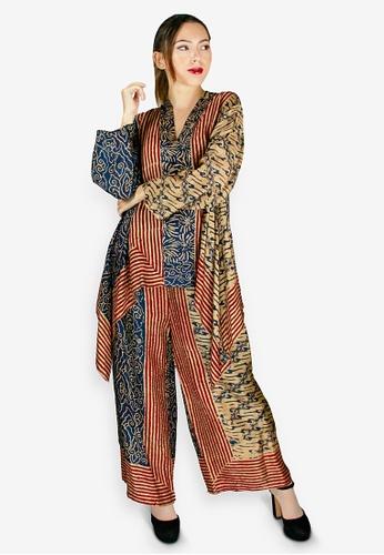 PANGOI black and red and multi and gold PANGOI Exclusive Babyfly Viscose Batik Traditional Muslimah Wear 50414AA10041CFGS_1