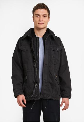 Abercrombie & Fitch black Twill Jacket AB423AA0SBP5MY_1