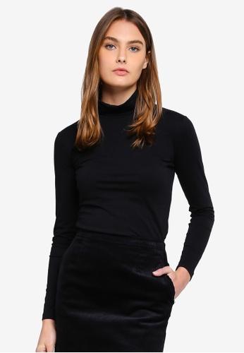 Calvin Klein black Long Sleeve Roll Neck Tee - Calvin Klein Jeans 3AA06AA359EBF0GS_1