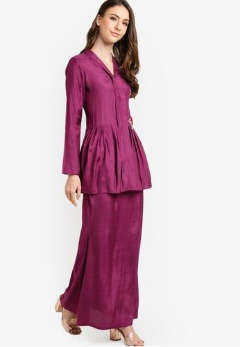 Gene Martino purple Baju Kurung Modern GE222AA33JDIMY_1