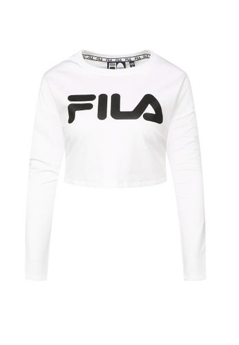 FILA white Logo Crop Tee 87673AAB3D19F2GS_1
