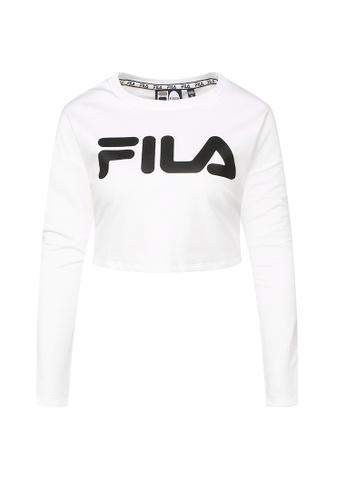 015adf7aadf Buy Fila Logo Crop Tee Online on ZALORA Singapore