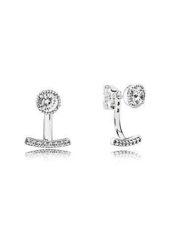 16a77c3f6 Pandora silver Silver Stud Earrings With Clear Cubic Zirconia  D17F9ACD7FBF99GS_1